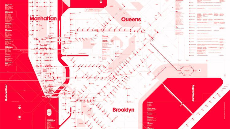 Check out these cool alternative versions of the classic MTA subway map