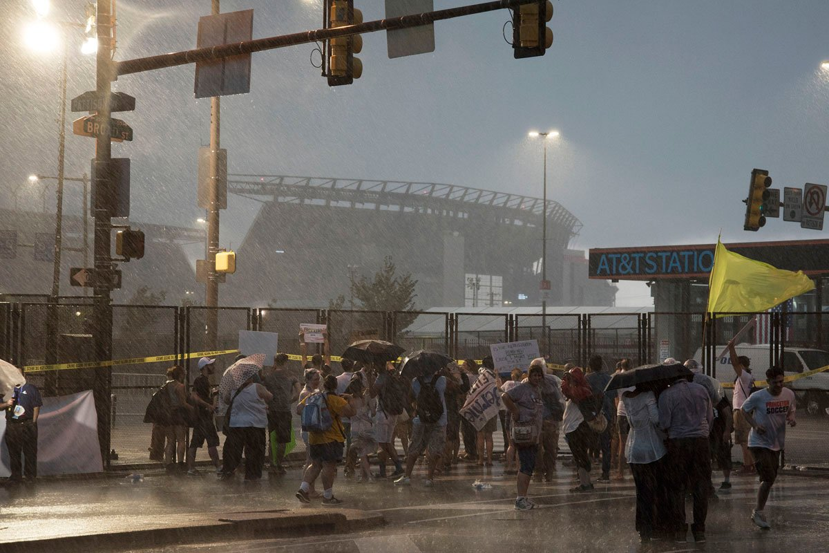 There's a flash-flood watch from 6 p.m. Thursday to 7 p.m. Friday