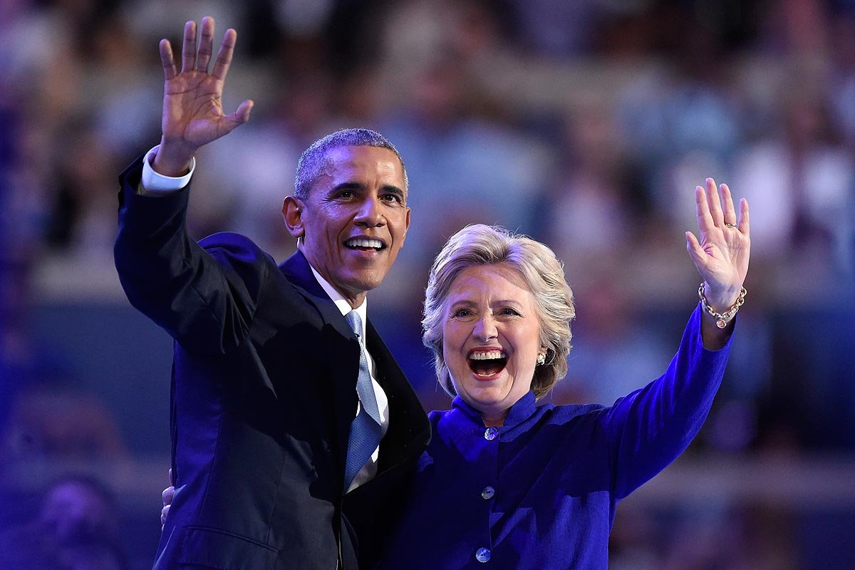"""Obama: """"America is great already"""" DNCinPHL DemsinPhilly"""