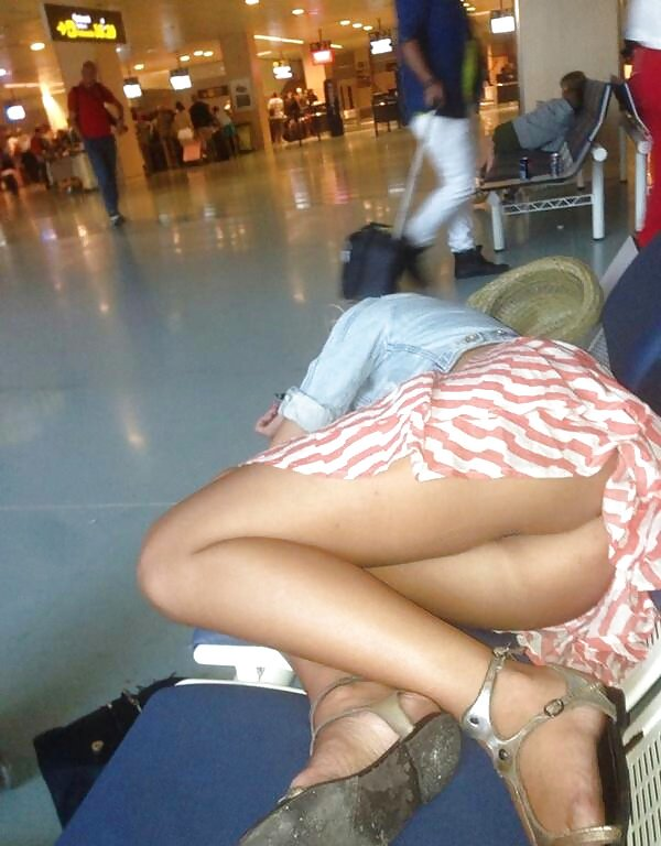 Upskirt video in airport