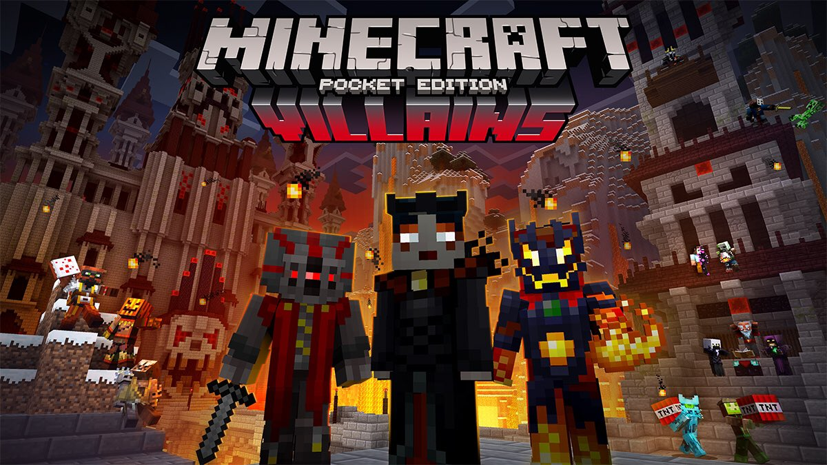 MCPE BETA On Twitter The Villian Skin Pack Will Be Available - Skins para minecraft windows 10 edition beta