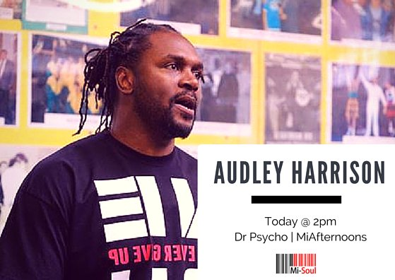 RT @MiSoulTweets: Today @ 2pm @audleyharrison talks to @DrPsycho about his new @samaritans charity track called #NeverEverGiveUp https://t.…