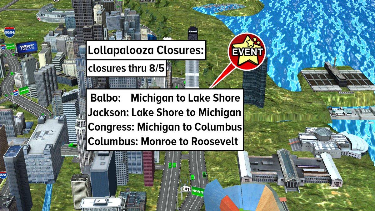 Balbo: Michigan to LSD, Jackson: LSD to Michigan, Congress: Michigan to Columbus, Columbus: Monroe to Roosevelt