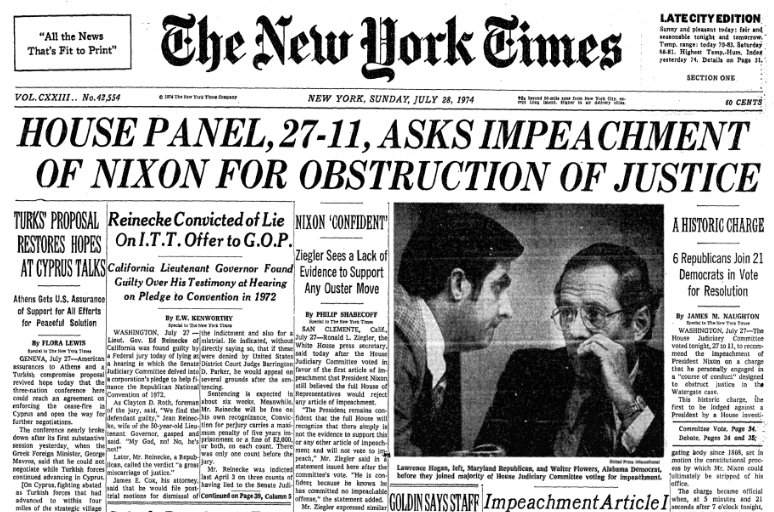 Image result for richard nixon impeachment