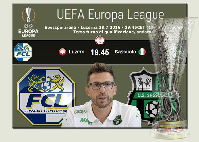 Lucerna-Sassuolo Streaming, preliminari Europa League 2016-17