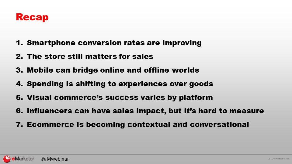 #Smartphone conversion rates are improving. #RECAP #eMwebinar https://t.co/FoAOsS7p5M