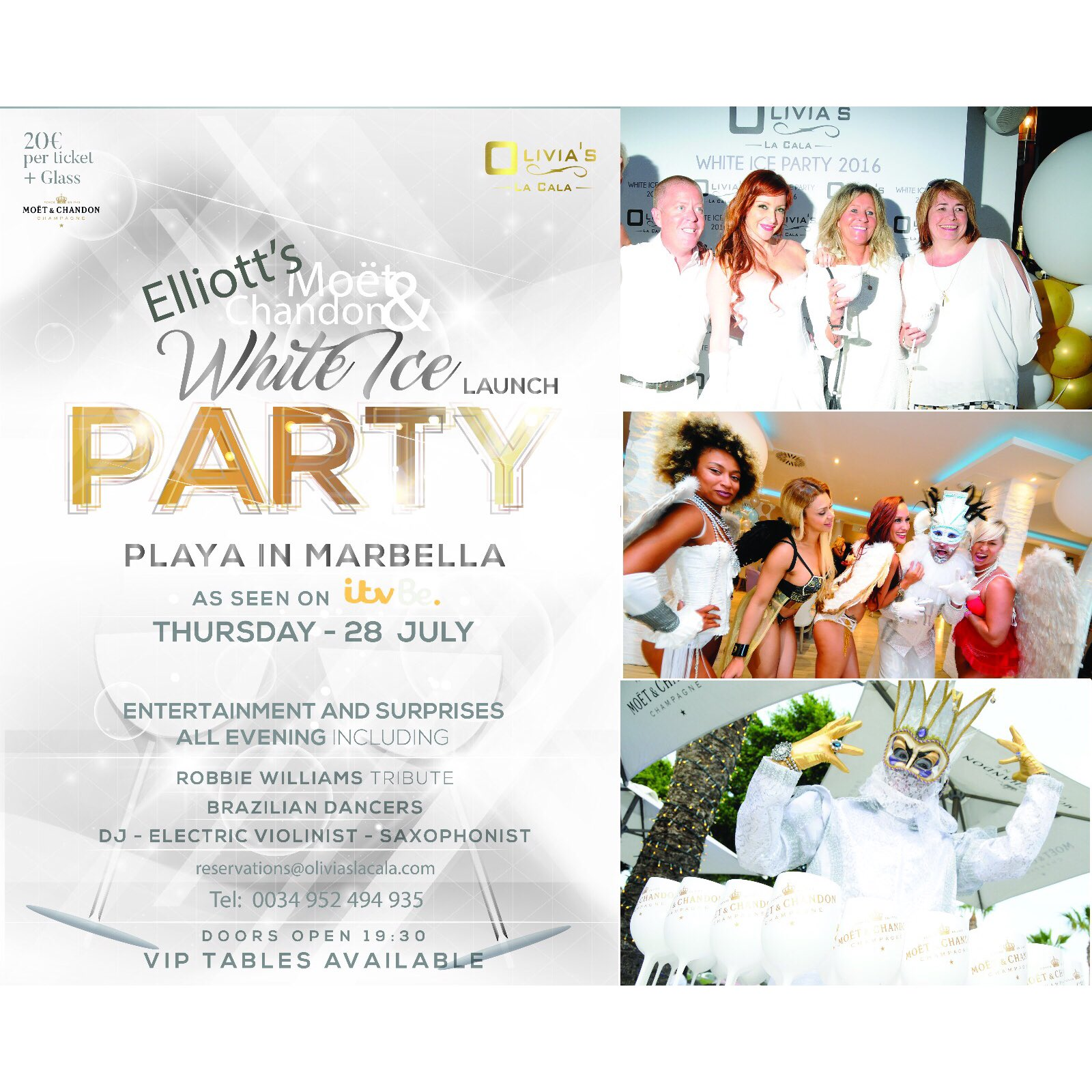 Looking forward to my #MoetChandonWhiteIce party tonight in @oliviaslacala tables sold out... Just drink entry left! https://t.co/3skYe3ZTZI