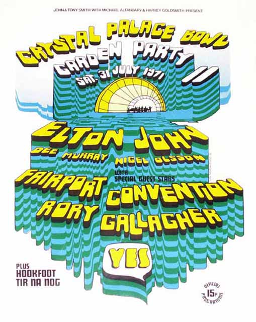 Elton John On Twitter Tbt This Week In 1971 Elton Headlined Crystal Palace Garden Party Ii Performing Songs From Madman Across The Water