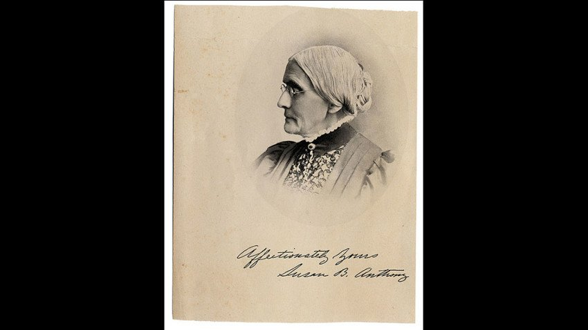 A thank-you note appeared at Susan B. Anthony's grave after Clinton's historic nomination