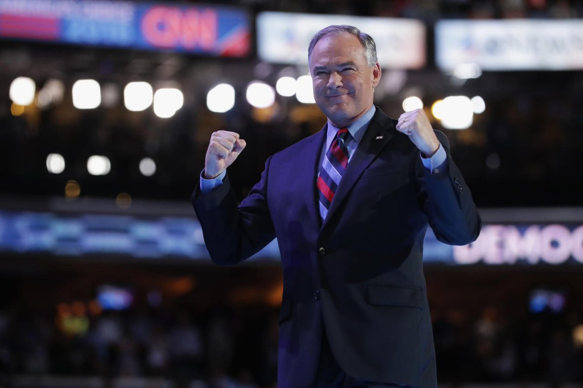 ''We better elect the candidate who's proven she can be trusted with the job,'' says Kaine