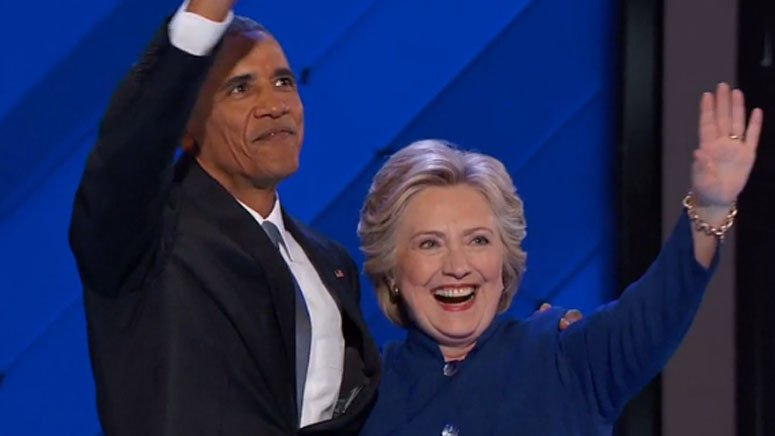 Obama passes baton to Clinton, imploring nation to elect her 7News