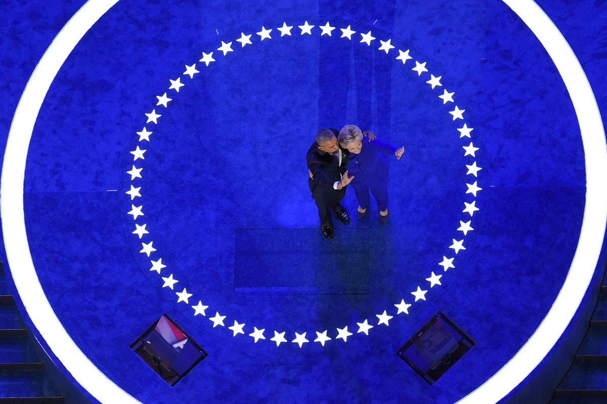 The stage is set for Hillary Clinton's acceptance speech