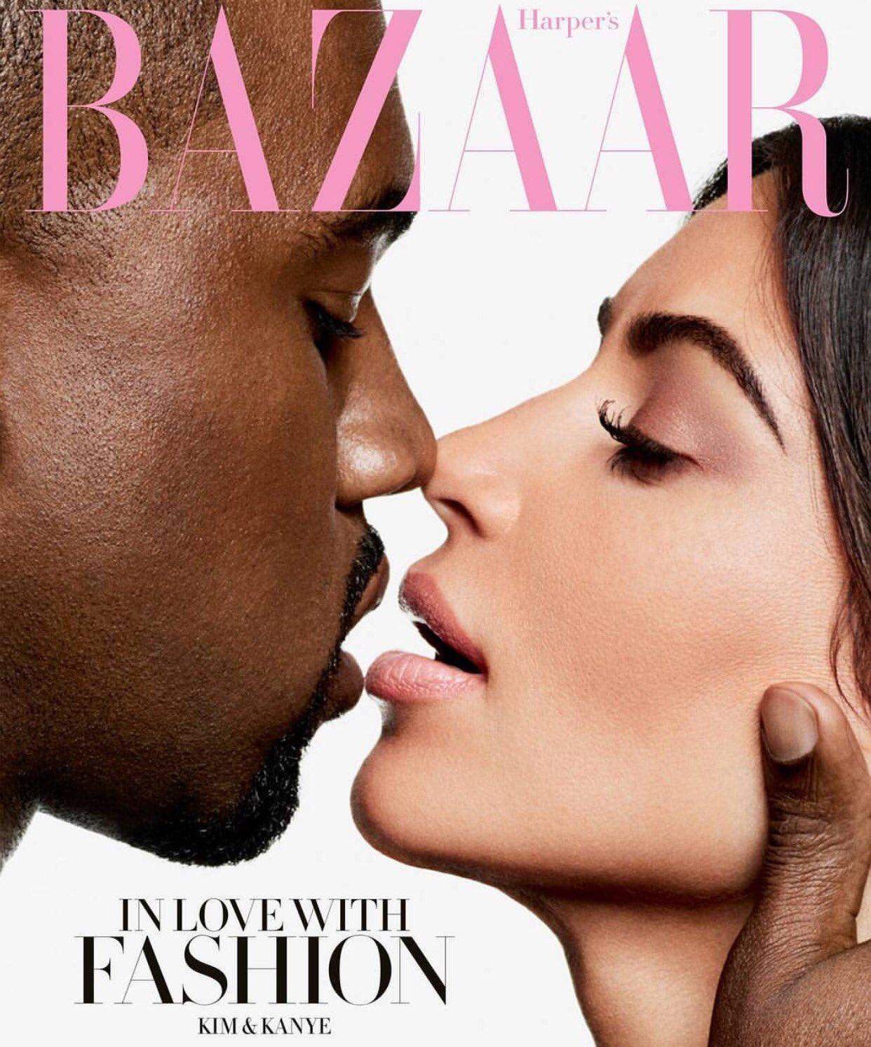 Unbelievably beautiful cover of @harpersbazaarus shot by our friend @karllagerfeld!! @kimkardashian #KanyeWest https://t.co/ZClfERhoi3