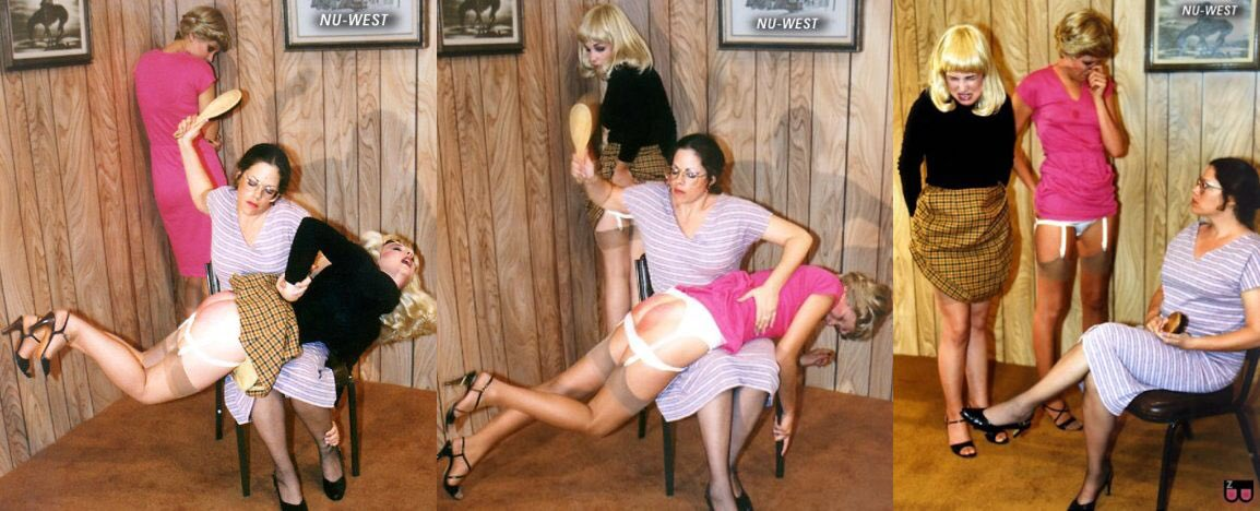 Spanking Land on Twitter: Two bad girls get a hard #