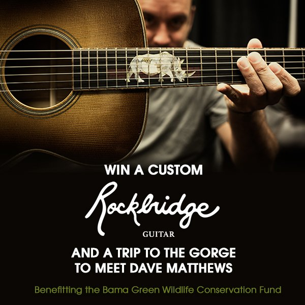 Dave matthews band on twitter visit httpstilkjsd07xz for a dave matthews band on twitter visit httpstilkjsd07xz for a chance to win a custom rockbridgegtr and a trip to the gorge to meet dave m4hsunfo