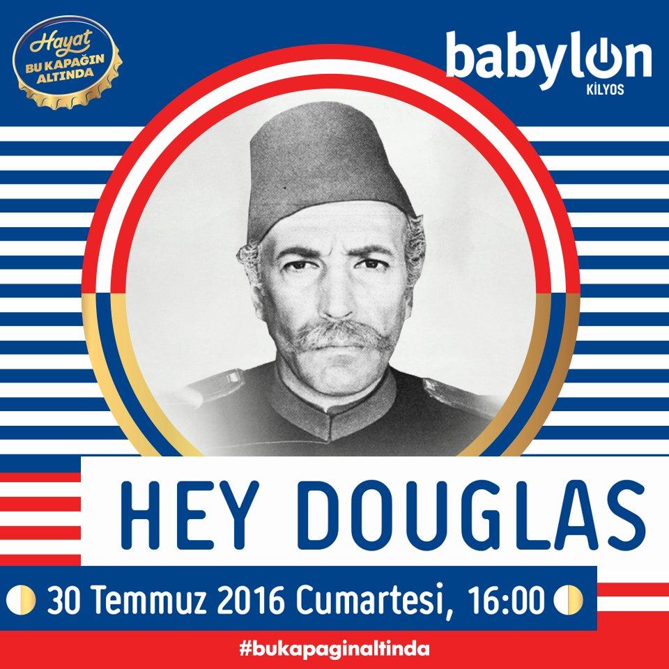 Cumartesi Babylon Kilyos'ta Hey Douglas rüzgarı esecek.  Hemen RT'liyorsun, konsere gidiyorsun! #bukapaginaltinda https://t.co/bC2hOlH4ld