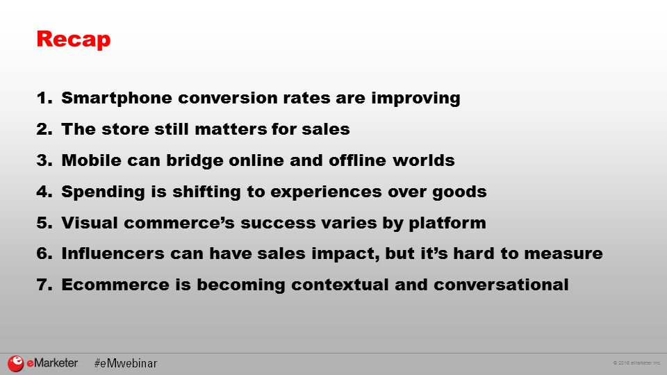 Spending is shifting to experiences over goods. #RECAP #eMwebinar https://t.co/M0BwH1q7m9