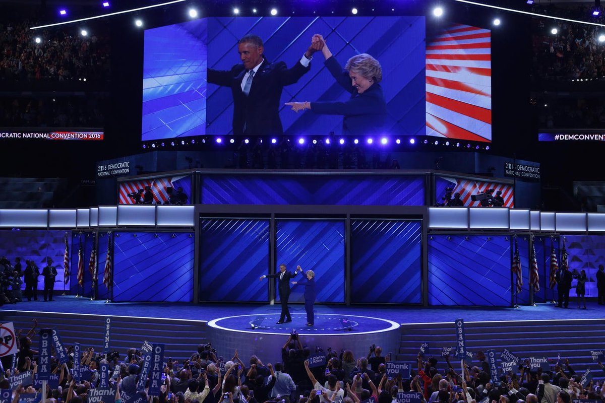 The president was the headline speaker on a roster of heavyweights Wednesday at the DNC