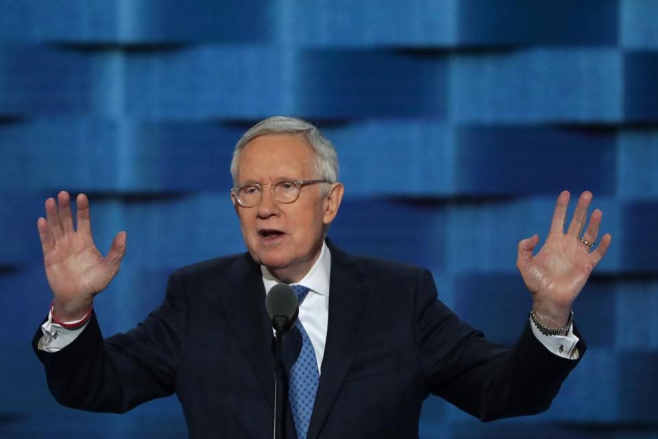 Senate minority leader Harry Reid says CIA should give Donald Trump fake briefings DNCinPHL
