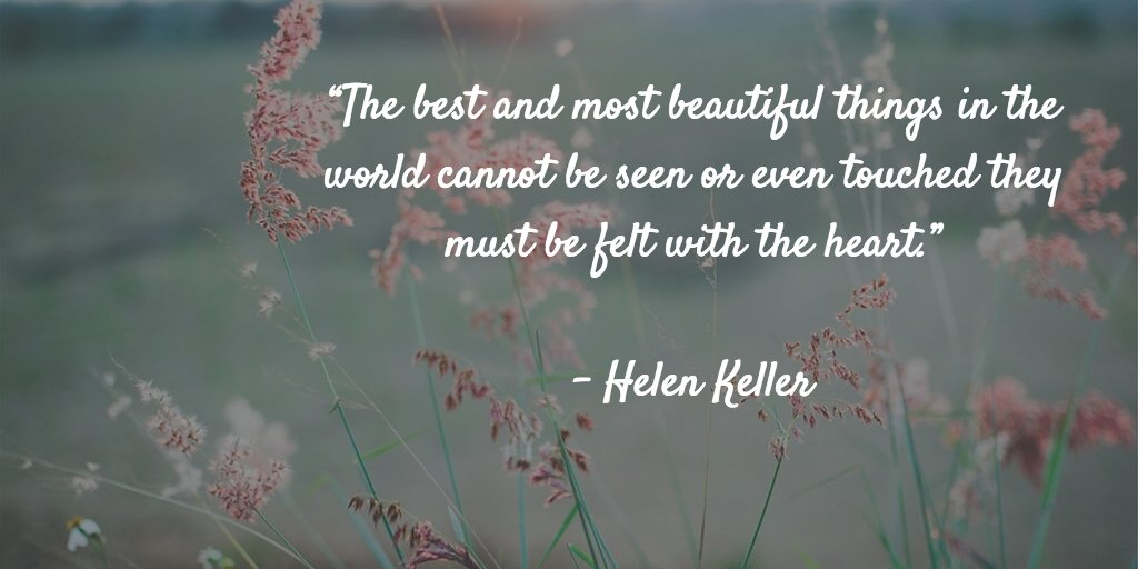 """The Best And Most Beautiful Things In The World Cannot Be: International Bipolar Foundation On Twitter: """"The Best"""
