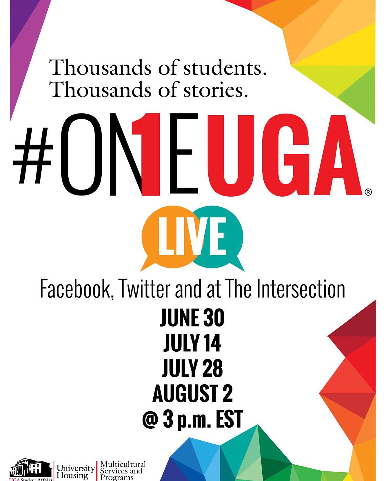 It's today! Join us for the #OneUGA chat at 3 pm to talk with current students & campus partners about #UGA life https://t.co/NAfM6i0q6U
