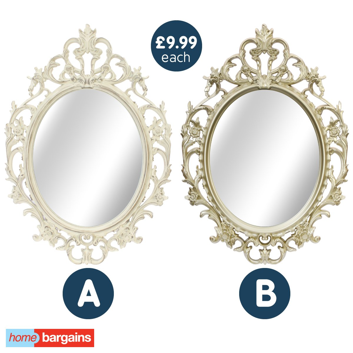 Home Bargains On Twitter Vote Now A Or B Which Of Our Antique Mirrors Would You Love To Hang On Your Wall