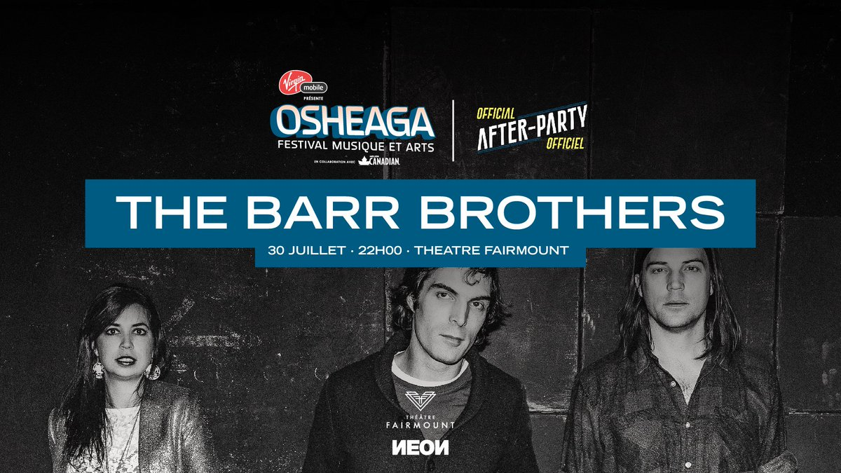 Retweet to win a pair of tix to official @osheaga after party w/ @thebarrbrothers this Sat. 30/07 @lefairmount! https://t.co/FCH9pjqc0i