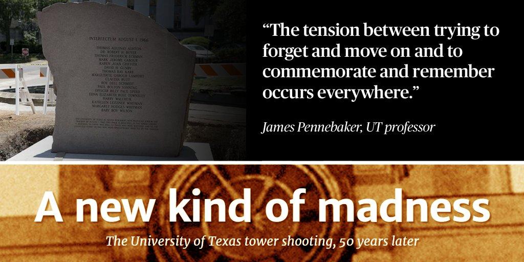 After long push, survivors of UT Tower massacre get campus memorial Tower50