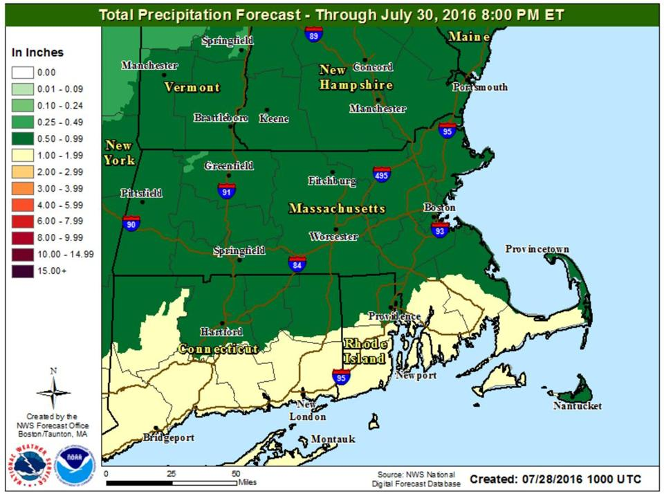 The hot weather and humidity Thursday will give way to a Friday washout, forecasters say