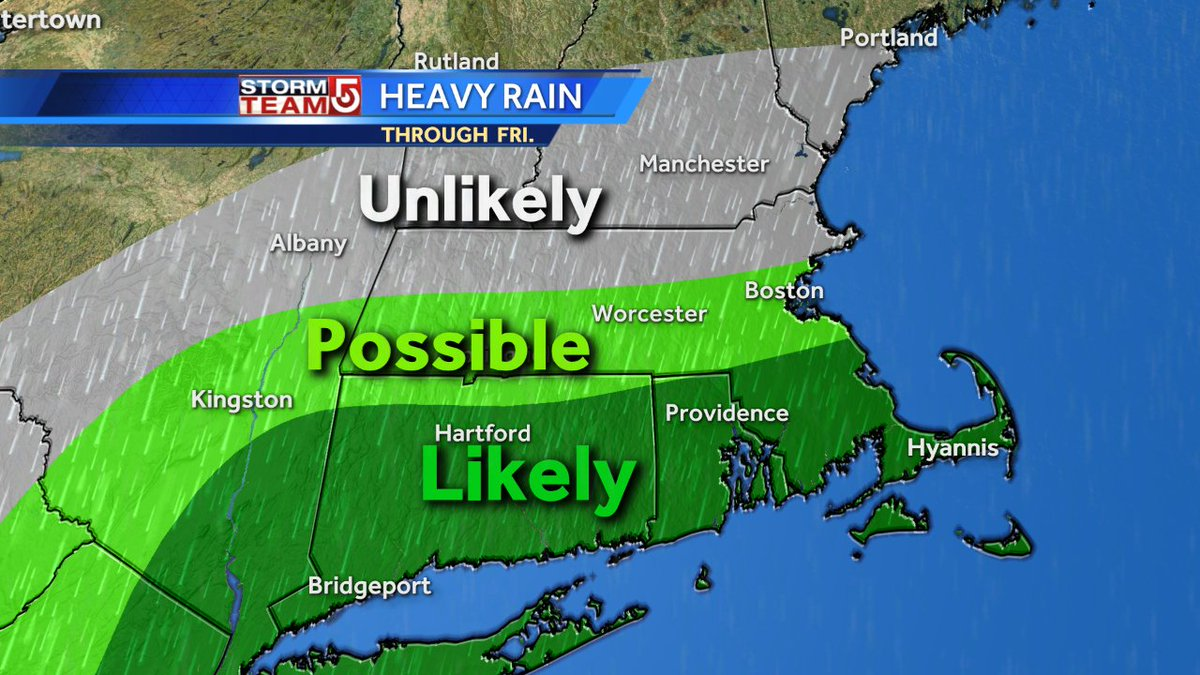 Looks like the heaviest rain on Friday will fall south of areas hardest hit by current drought. wcvb