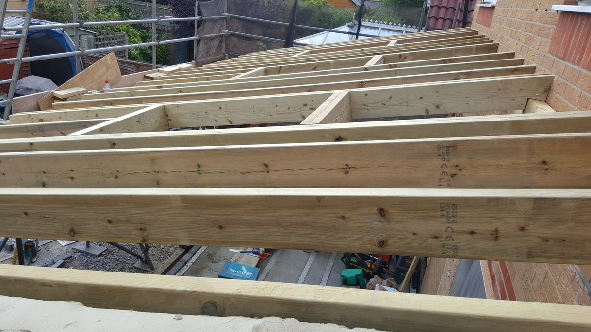 Sp cranstone ltd on twitter hand cut up a lean on mono pitched roof last week in cheshunt took 3 days good results three rooflights going in