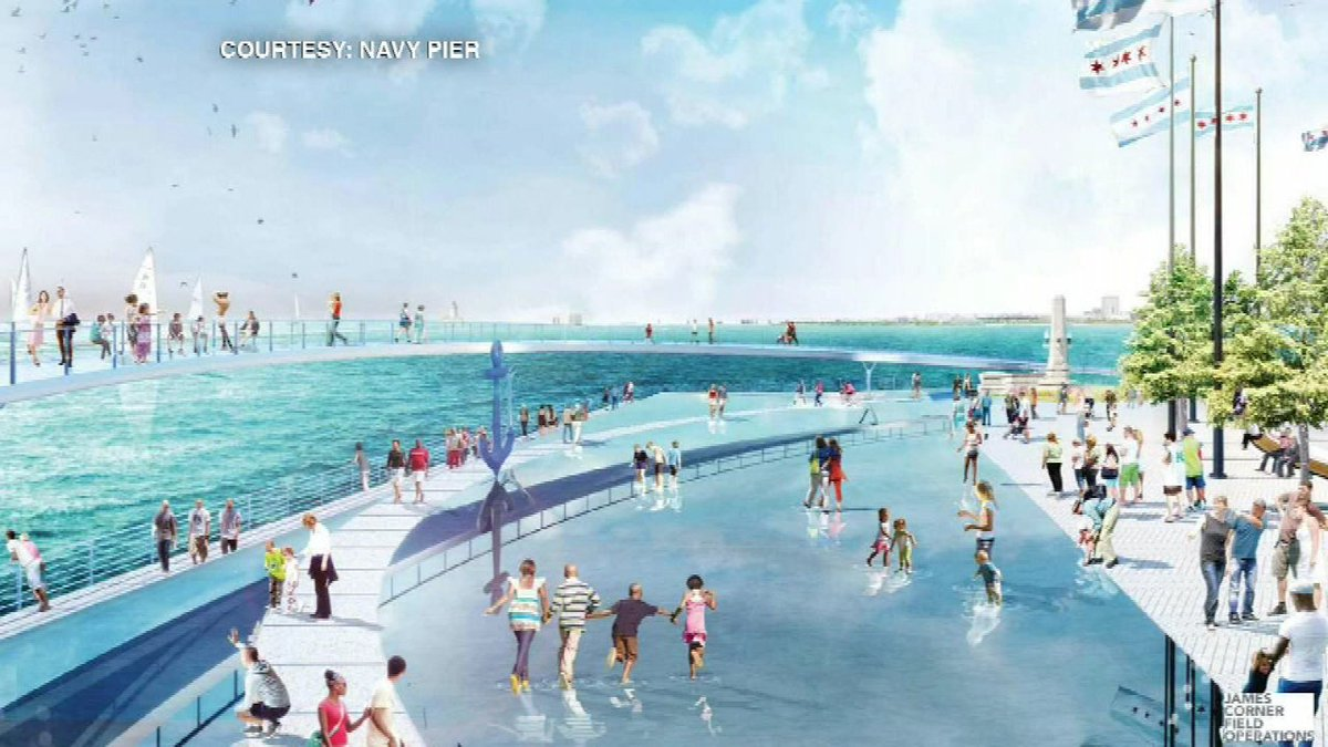 Navy Pier upgrades could include elevated walkway overlooking lake, hotel, fountain