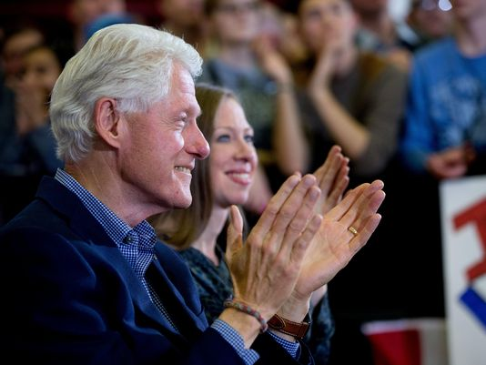 This time, an adoring He looks on as She accepts the nomination