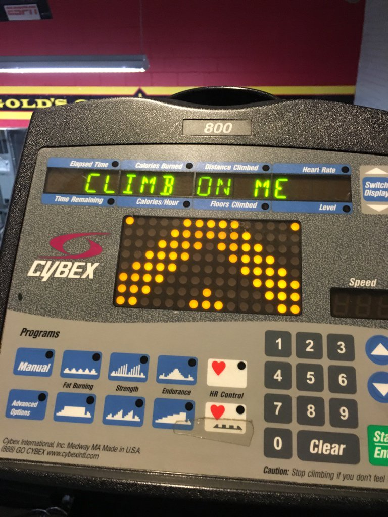 workout machine is horny https://t.co/UM2Xwxl71G