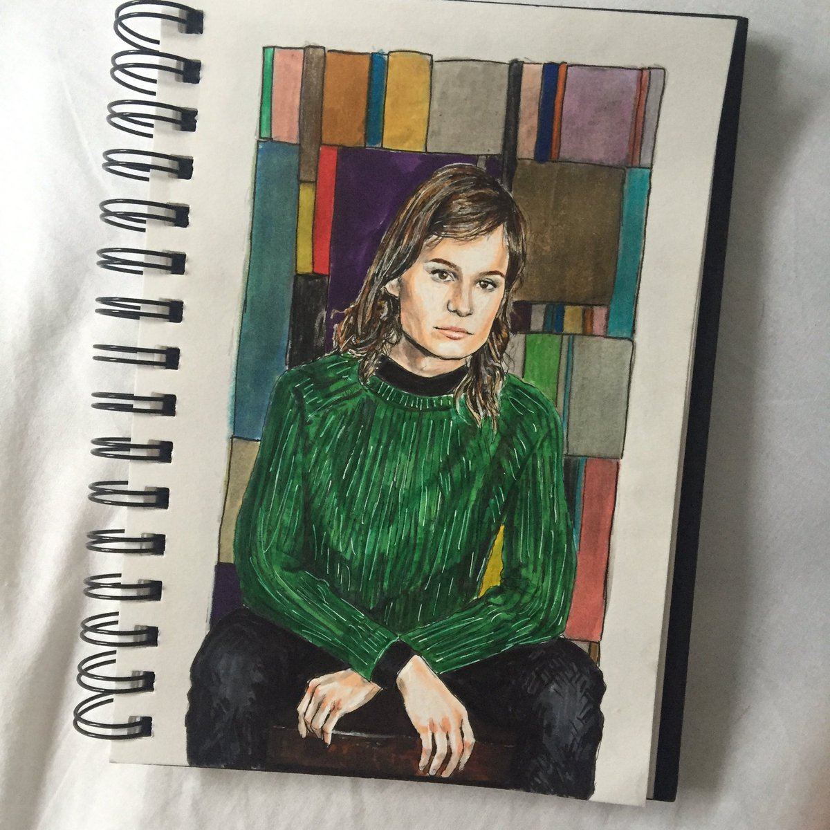 i did your face with magic marker @QueensChristine