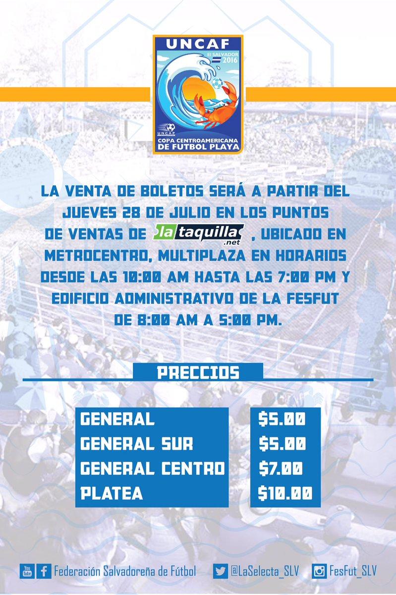 Torneo UNCAF 2016 en El Salvador. Coeg2esVUAQEfKw