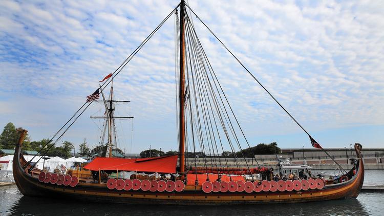 Docked at Navy Pier, Viking warship captain downplays diplomatic spat with U.S. Coast Guard