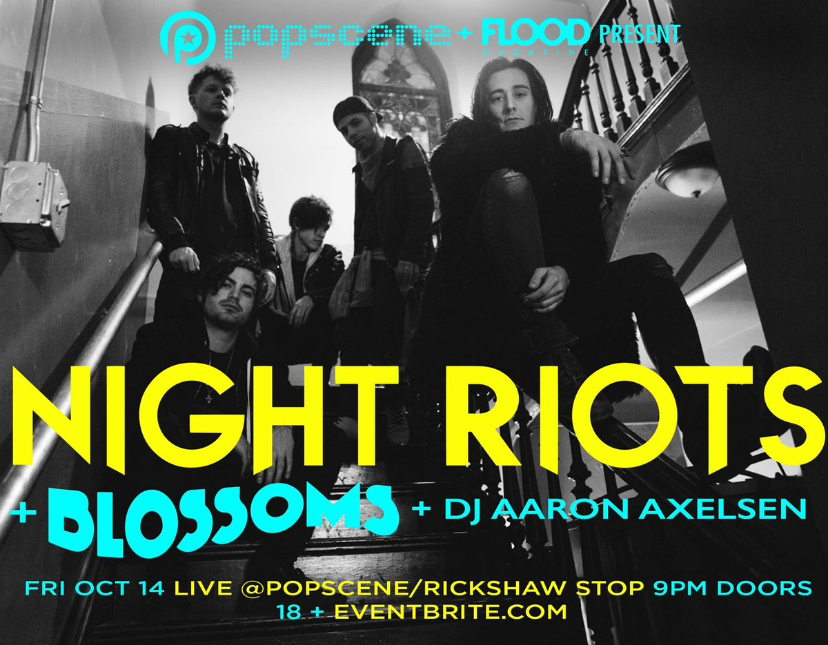 Do not sleep on this: SF debut of @BlossomsBand (UK) & @nightriots (CA) on 10/14! On sale this Fri. https://t.co/g1pIBhdHRV
