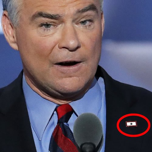 Republicans shamed TimKaine over flag pin. Turns out it wasn't what they thought it was.
