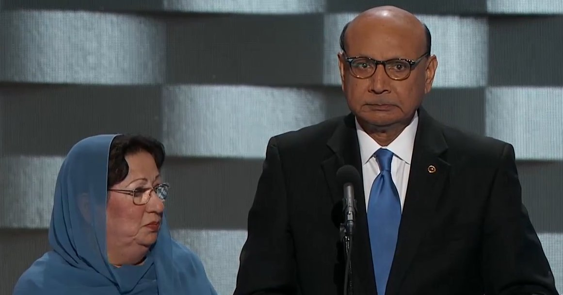 Muslim-American father of soldier killed in Iraq give powerful speech at DNC