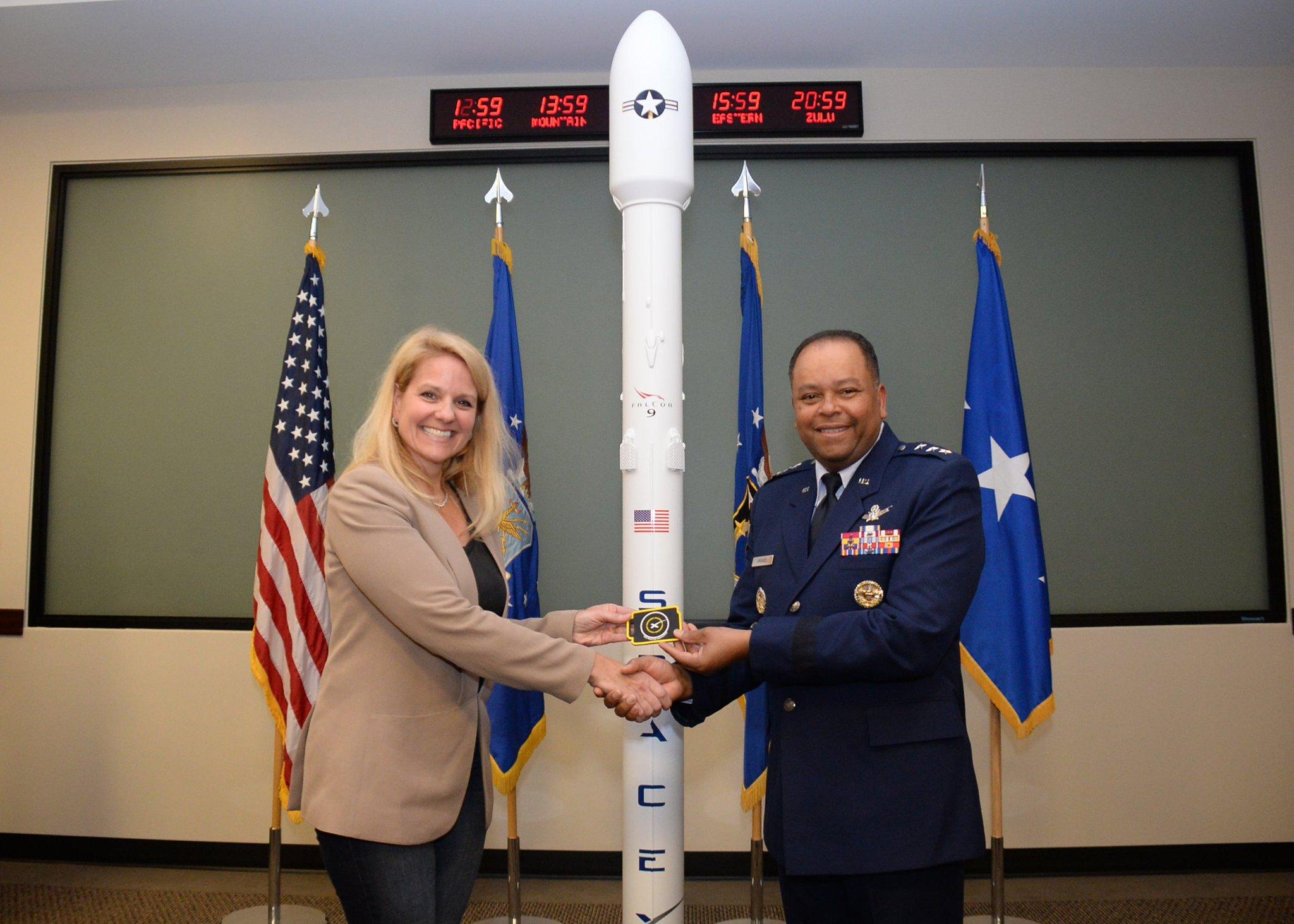 Gwynne Shotwell Falcon 9 model
