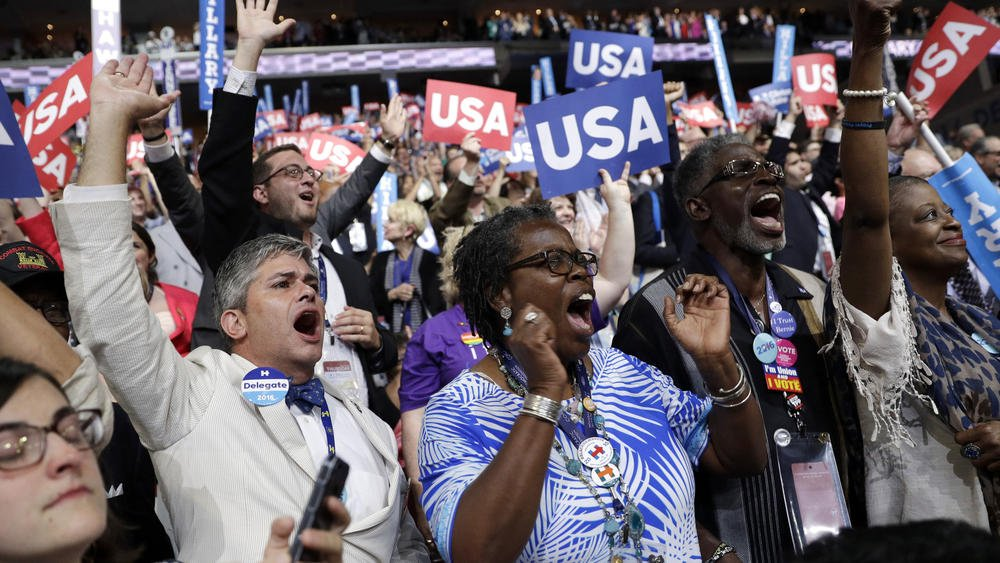 as Hillary Clinton makes history, accepts Democratic nomination for president