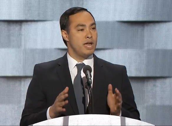 Joaquin Castro, U.S. Representative from Texas, speaking now at DNCinPHL
