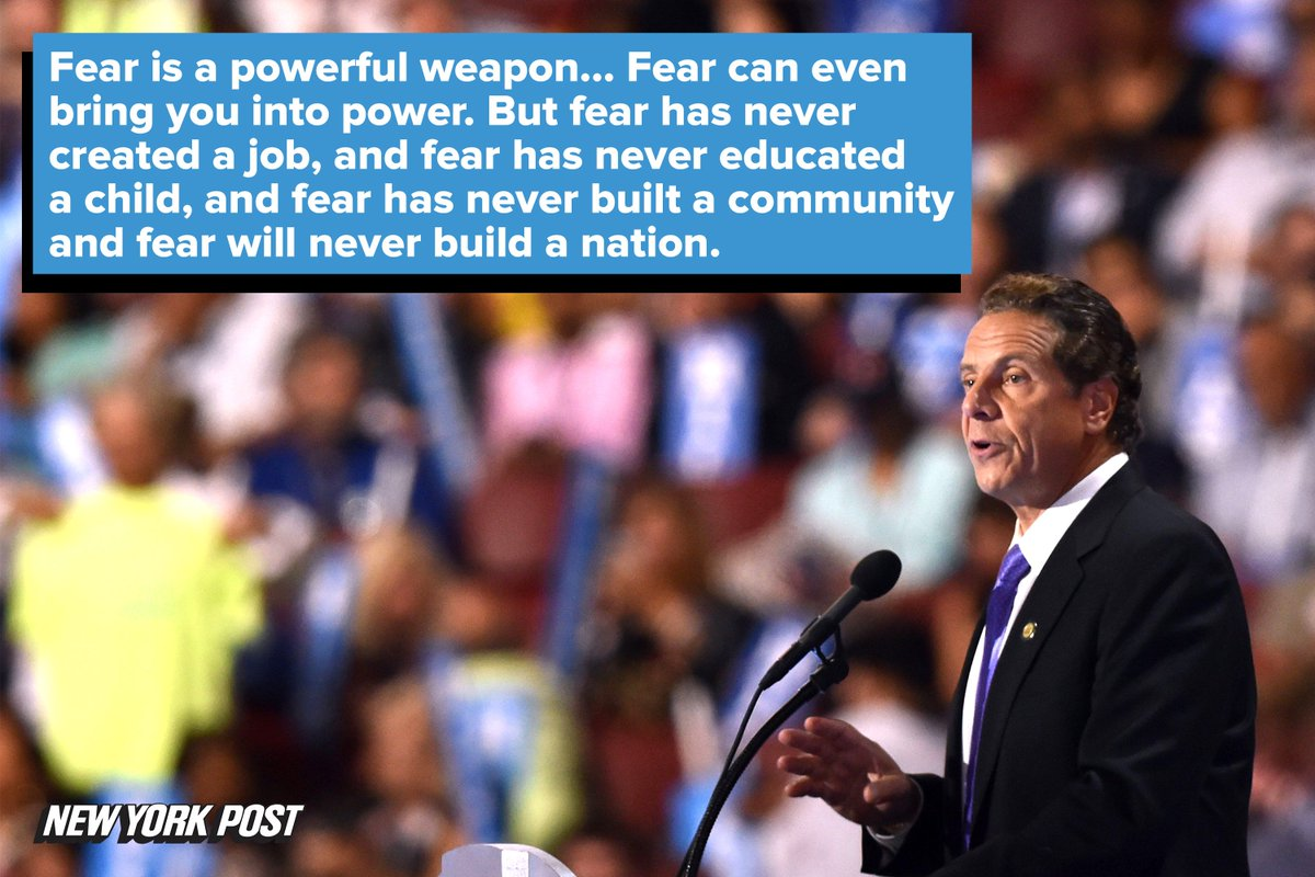 Fear is a powerful weapon... But fear has never created a joband fear has never educated a childDNCinPHL