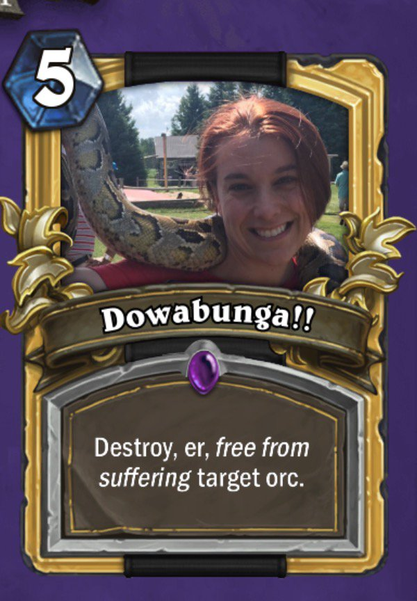 steve lubitz on twitter i found a custom hearthstone card creator