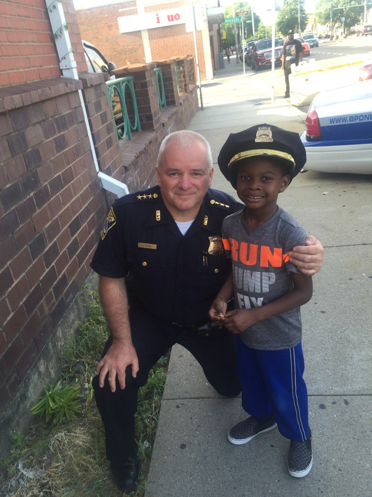 @BostonPolice met some new friends tonight including my new buddy Wesley at the Peacewalk in B3 Mattapan!!