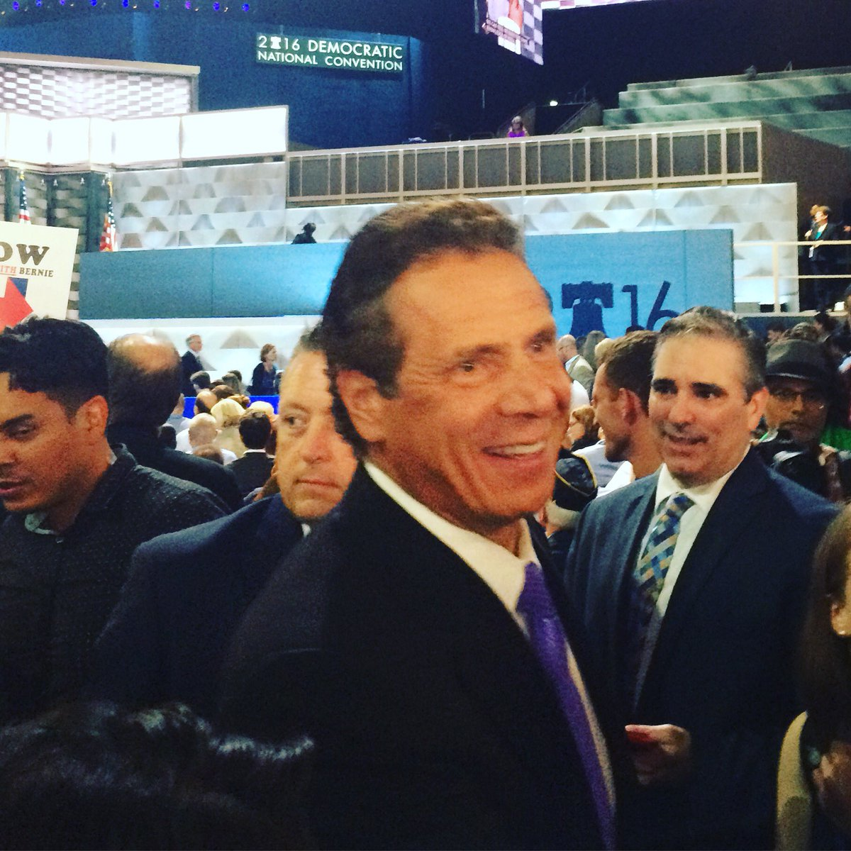 NY Governor Andrew is having a great time greeting fellow Democrats on the floor @DemConvention! #DemsInPhilly https://t.co/NivgWzg0RR