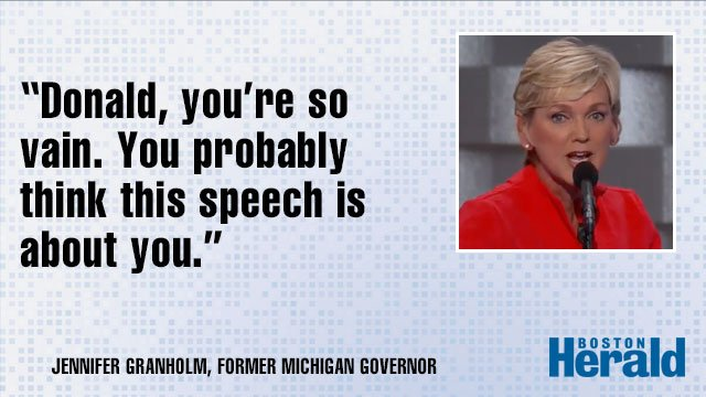 Jennifer Granholm, the former governor of Michigan, mocked Donald Trump at the DemConvention