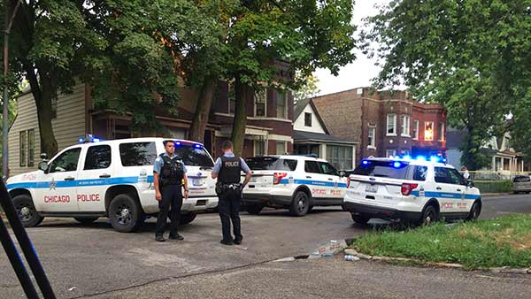 Man shot by Chicago police in Englewood