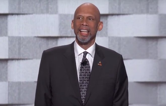 Kareem Abdul-Jabbar is speaking now. Watch: DemsinPhilly